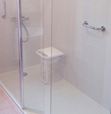 douches sécurisées seuil bas