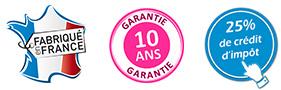fabrication française, garantie 10 ans