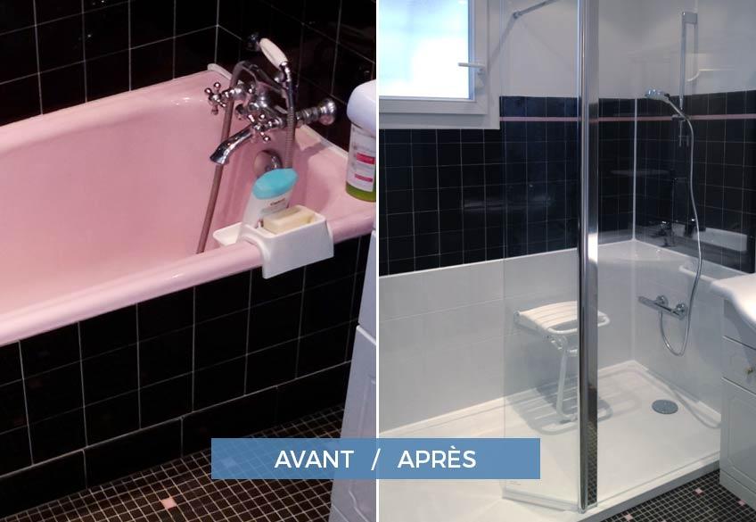 Installation douche sécurisée pour senior