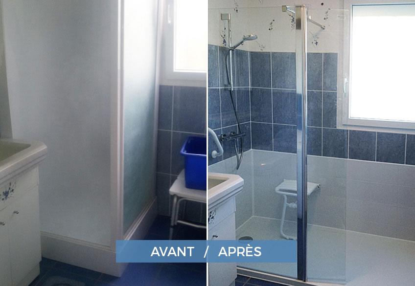 installation douche pour sénior