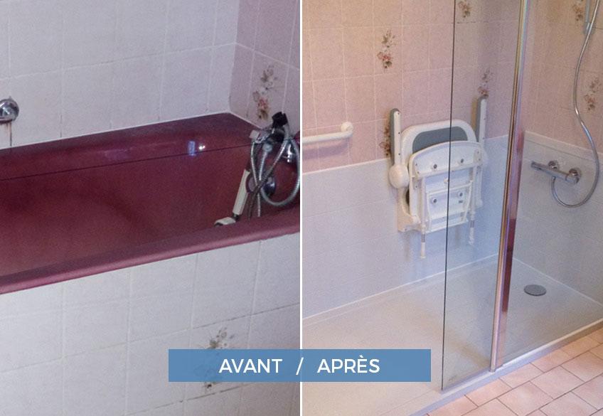 douche équipée pour personnes agées